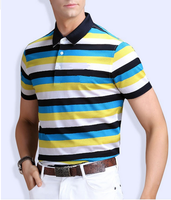 High quality striped cotton t shirt polo,custom cheap mens polo tshirts with logo