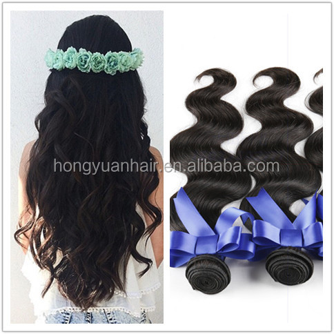 Women hair bundles hot sale real remy human hair brazilian hair extention