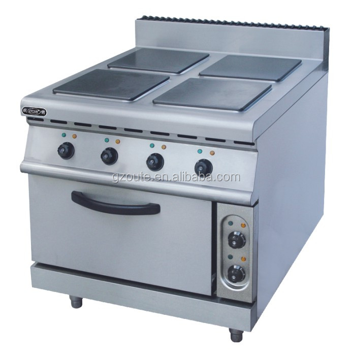 Commercial electric range cooker with 4,6,8 burner electric square hot plate with oven