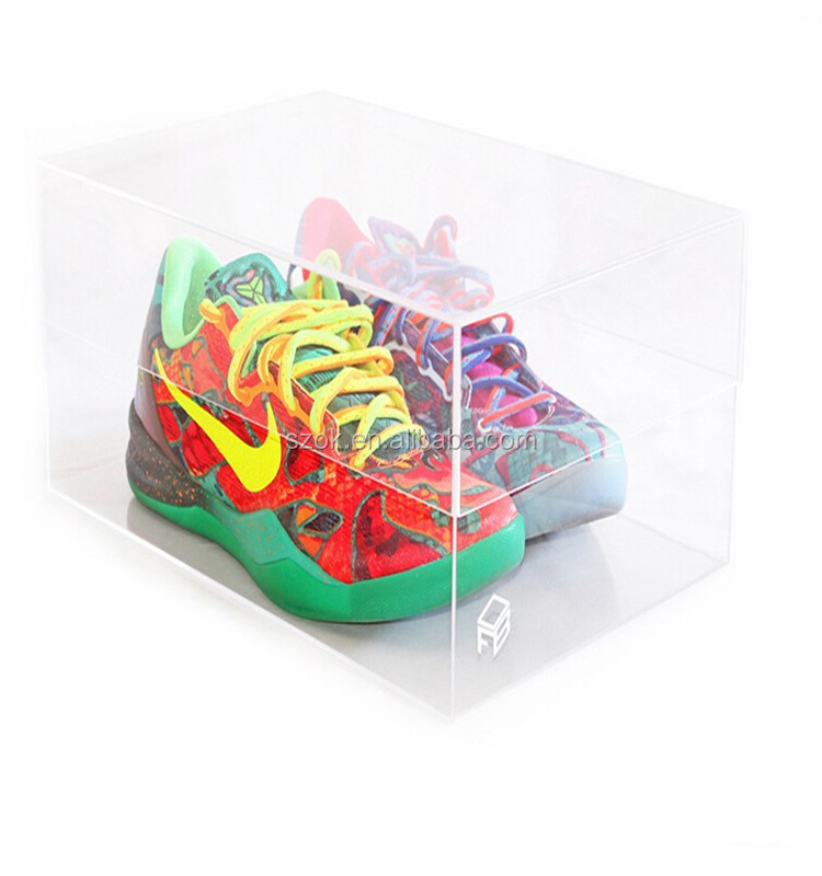 on line store clear acrylic shoe display case for nike shoe