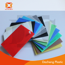 colorful pp hollow sheet /pp correx board