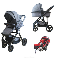 Luxury Aluminum Alloy Baby Stroller with high quality 3-in-1 Baby Stroller