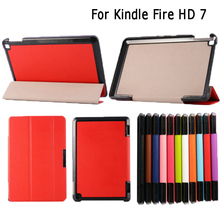 Leather Case Cover Stand Skin for Amazon Kindle Fire HD 7""