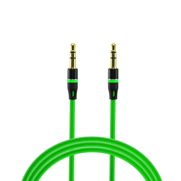 customized color 3ft 6ft 9ft double molded 3.5mm jack stereo car aux cable