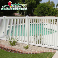 Pvc plastic white used pool picket fence / pvc valla de jardin