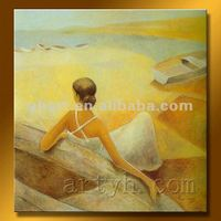 Hot Sell Handmade Beautiful Girl Nude Oil Painting