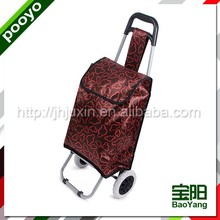 fashion shopping trolley bag 4 wheels plastic shopping portable luggage cart