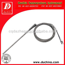 Spring thermocouple with BB compensation cable