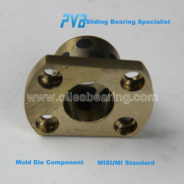Flanged Oil Free Bushings, Bronze Guide Bushing based on MISUMI Standard