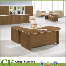 Hot Sell Modern Melamine Curve L Shape Office Desk for Boss