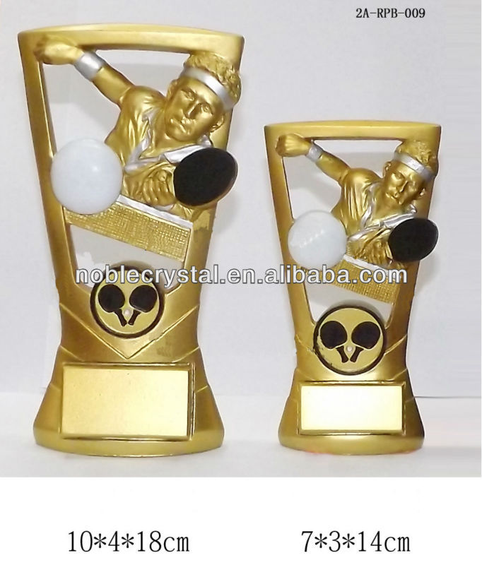 china manufacturer hot selling resin table tennis plaque trophy for sale