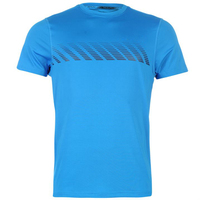 Xiamen factory custom men's latest style fashionable round neck running shirt from China gold suppliers