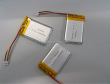 Rechargeable li ion battery 3.7v 1200mah 703450 battery 1200mAh lithium ion polymer battery with wire,connector,PCM,NTC