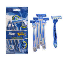 Disposable Shaving Razor Polybag Package 3 blades