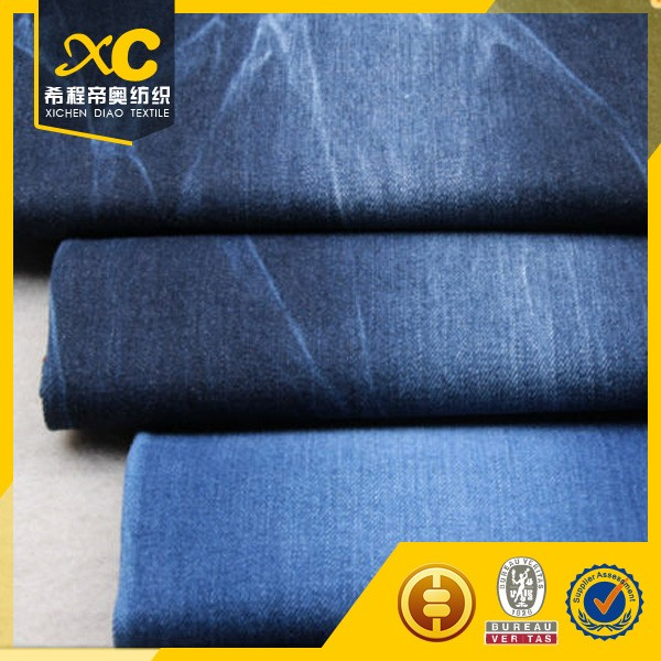 good quality 3/1 cotton polyester jeans denim with cheap price