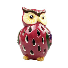 Outside Landscape Ceramic Owl Shape Solar Garden Light
