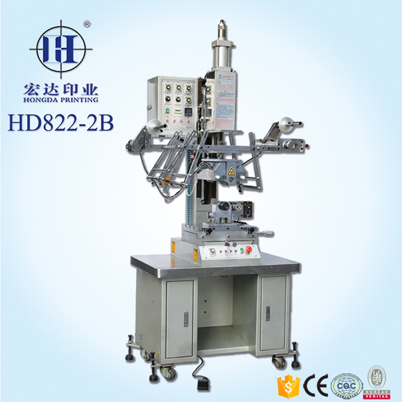 Cylindrical heat transfer printing machine for plastic bottle