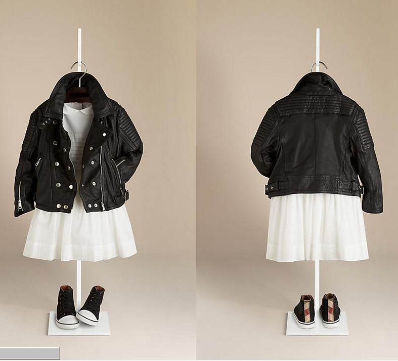 Children's Girls Leather Biker Jacket (4-14years)