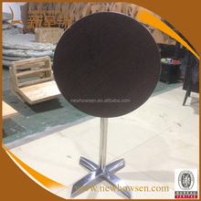 Restaurant round table top aluminum table leg folding table