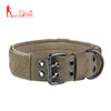"Adjustable 1.5"" Width Military Training Heavy Duty Nylon Tactical Dog Collar with Control Handle Metal Buckle"