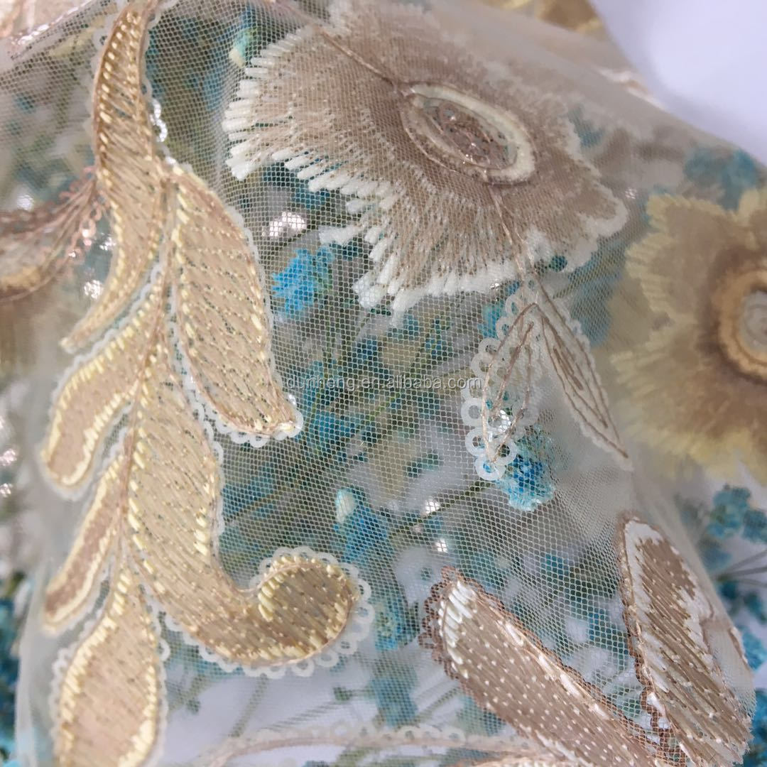 Fashion beautiful sequin embroidery for woman