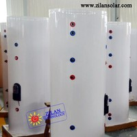 150L split solar heater water tank with double spiral coil for solar thermal system