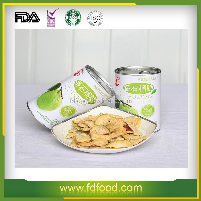 Well Sold Dried FD Fruit Snack 100% Natural Fruit Freeze Dried Guava