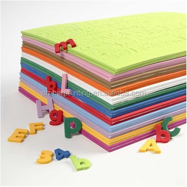 Non toxic eva material colorful custom shape eva foam sheet
