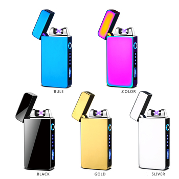 Hot selling double arc USB charging lighter with LED light with charge indicator
