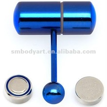 Blue Vibrator Tongue Ring The Vibrating Barbell Piercing Body Jewelry-SMVJ059-BL