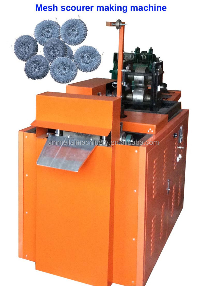 2 needle mesh scourer making machine with low cost