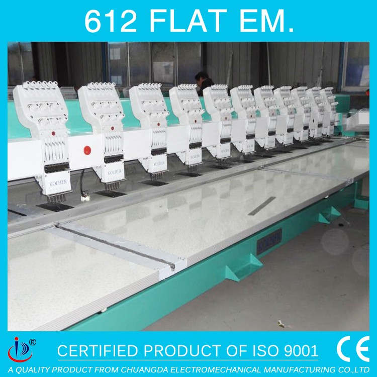 612 FLAT TAJIMA 12 HEAD COMPUTER BEST EMBROIDERY MACHINE FOR HOME&BUSINESS