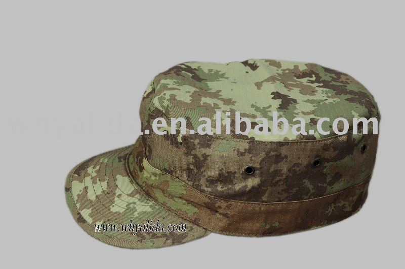 Terylene/Cotton 65/35 Military Army Blending Twill / Ripstop Italy Camo Hats