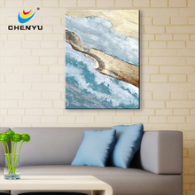 Neutral Colour seascenary 100% HandPainted Abstract Oil Painting Art Canvas Print Wall Home Decor Unframed Framed