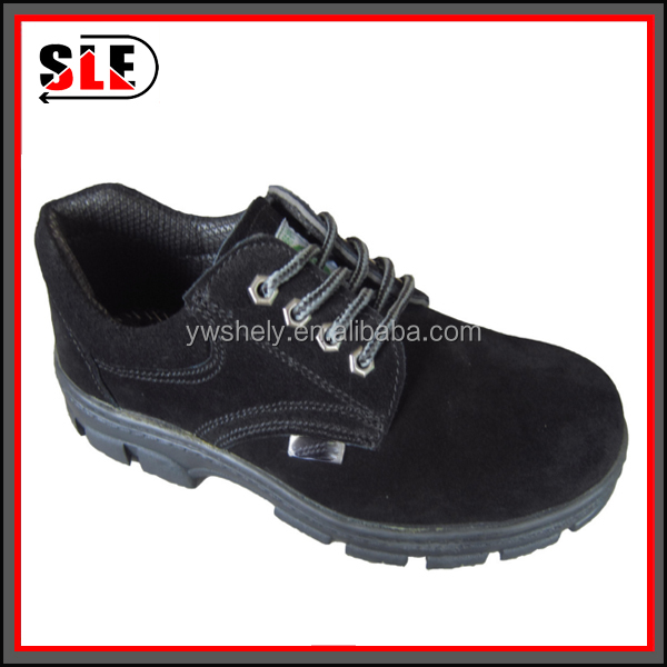 Safety shoes up prevention labor insurance shoes leather wear work shoes black color