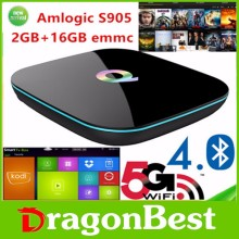 2016 wholesale Q Box Amlogic S905 Android 5.1 tv box 2gb ram 16gb rom H.265 4K Kodi 16.1 Quad Core Smart TV Box