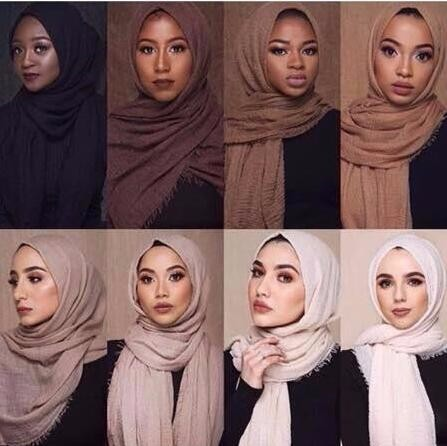Best Selling whosale Women wear tag wholesale scarf Muslim crinkle bubble hijab