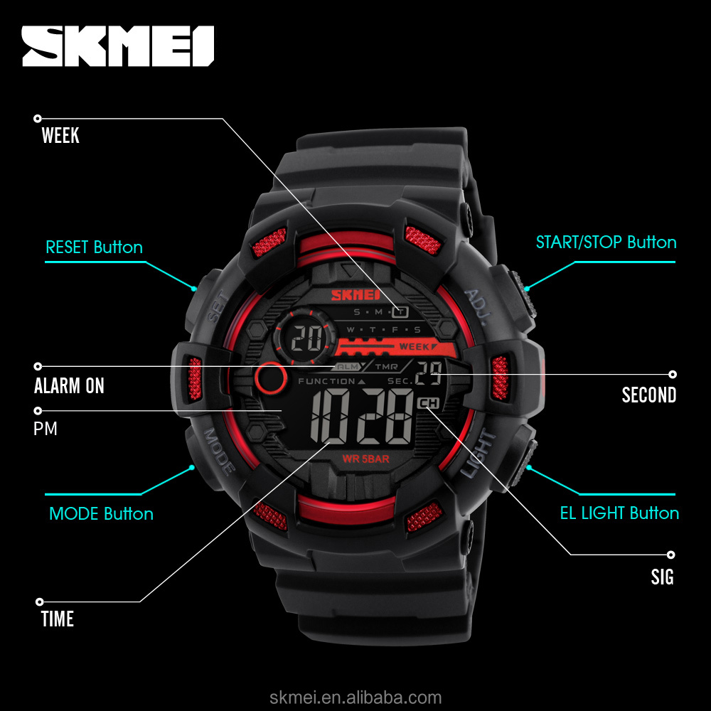 New design skmei cheap watch gold plated sport watches guangzhou factory