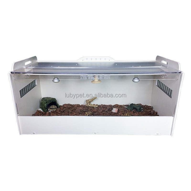 High quality wooden Acrylic Plastic Terrarium Pet Reptile display cage, for Reptile and pet breeding cases