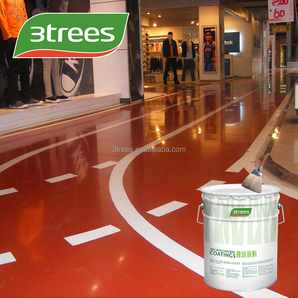3TREES Solvent Self Leveling Epoxy Rubber Floor Paint