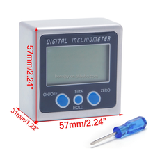 Digital Protractor Inclinometer Bevel Box Level Measuring Tool Electronic Angle Meter Angle Finder Angle Gauge Magnetic Base