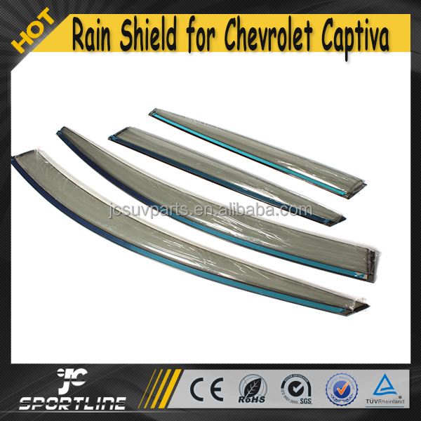 4pcs/set Electroplate Auto Car Window Sun Rain Shade Guard for Chevrolet Captiva 2010