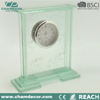 Wholesale fashionable desktop glass clock , glass desk and table clock China