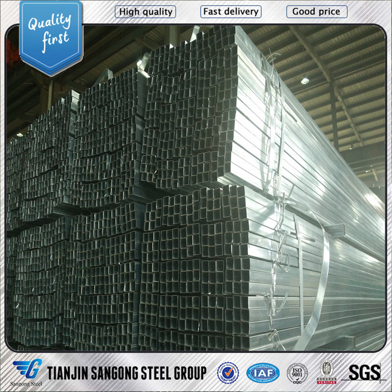 galvanized <strong>q195</strong> galvanized square structure steel pipe/tube