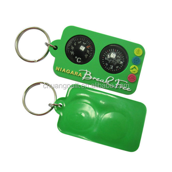High quality cheap promotional PVC soft rubber key tag
