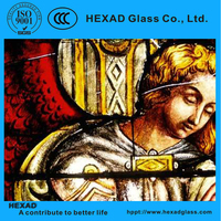 Hign quality stained glass for window, room divide screen, celling doom, door decoration