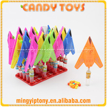 2017 plastic candy toy, stealth aircraft toy candy for boys