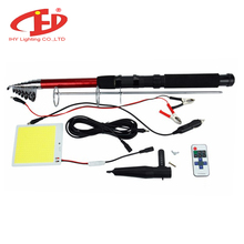 Hot 12v High Luminous Efficiency Outdoor Led Telescopic Fishing Rod Camping Light for Desert Camping Light