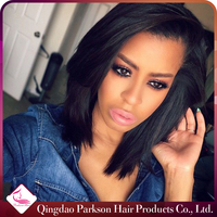 Wholesale Instock glueless lace wig body wave 100% human hair brazilian hair full lace wig with baby hair / Lace front wig
