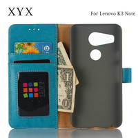 scratch-proof mobile phone wallet design inner card slot leather flip case for lenovo k3 note
